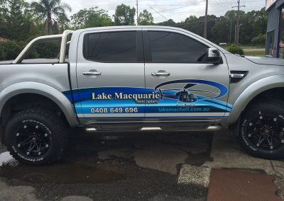 Lake Macquarie Helicopters Ute Signage
