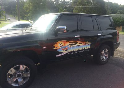 Sundown Window Tinting Vehicle Signage